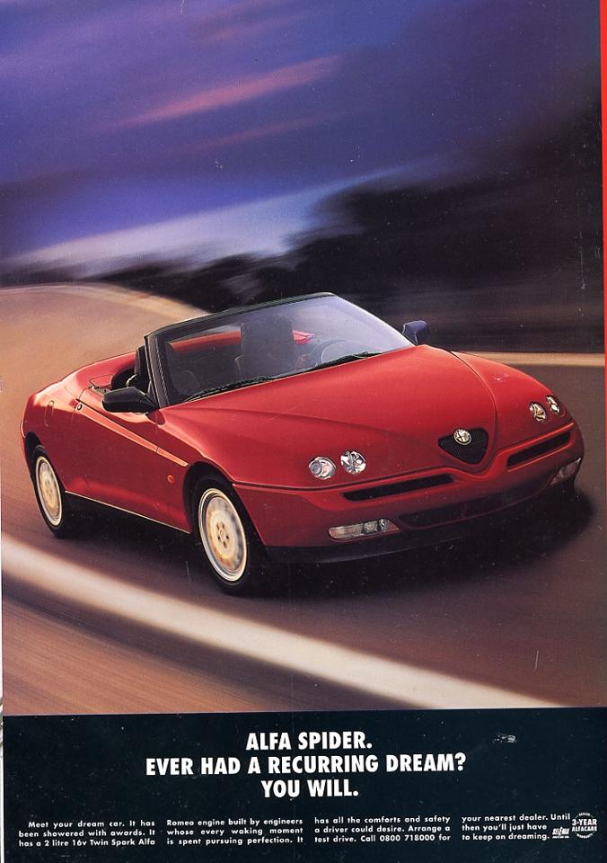 Ad Alfa Romeo Spider Red